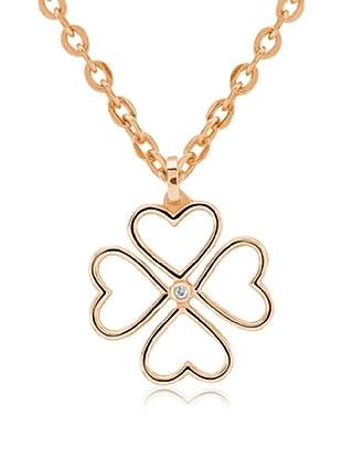 Divas Diamond Collar Diamante 4 Leaves Clover Oro Amarillo