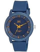Q&Q Analog Blue Dial Unisex Watches - VR52J002Y
