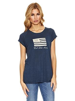 US Polo Assn Camiseta Print Bandera (Azul Marino)