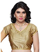 Khoobee Presenting Festive Special Stitched Art Silk Blouse.(Golden)