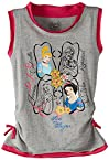 Disney Girl's Princess T-Shirt (IFRN 3002_Melange and Pink_9-10 Years)