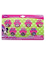 WeGlow International Minnie Bowtique Days of The Week Earring and Ring Set (Set of 3)