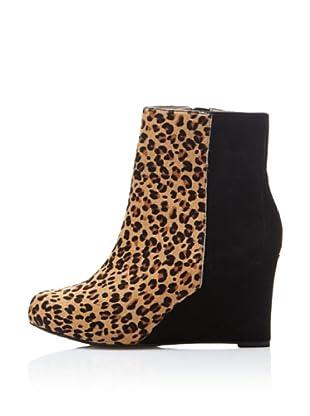 Rockport Botines Plataforma Leopard (Negro / Beige)