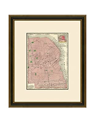 Antique Lithographic Map of San Francisco, 1886-1899