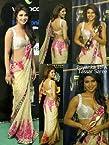 Classy Cream Embroidered Bollywood - Saree