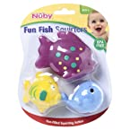 Nuby Fish Bath Squirters 3 Pieces, Colours and Designs May Vary (3 Pieces)