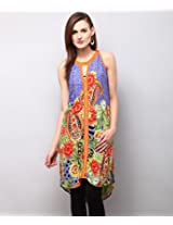 Yepme Women's Multi-Coloured Polyester Ethnicwear - YPMKURT1008_XL