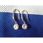 Sterling Silver CZ Diamond Crystal Elegant Shining Drop Dangle Earrings