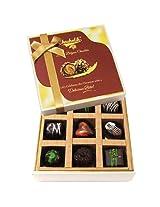 9pc Soft And Sweet Dark Chocolate Box - Chocholik Belgium Chocolates