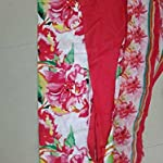 Red Cotton Dress Material With Dupatta