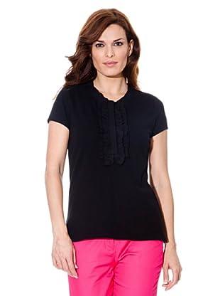 Cortefiel Camiseta Chorrera (Negro)