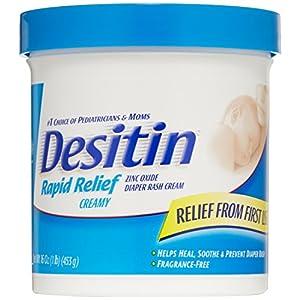 Desitin Rapid Relief Diaper Rash Cream for Babies, 16 oz.