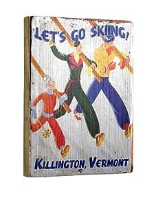 Artehouse Let's Go Skiing-Killington Reclaimed Wood Sign