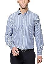 Peter England Comfort Fit Shirt _ PSF61500634_38_ Blue