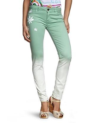 Desigual Pantalón Franklin (Verde / Blanco)
