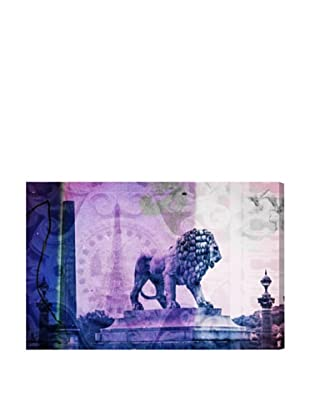 Oliver Gal Lion du Paris Canvas Art