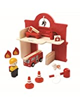 Plan Toys Double Sided Fire Station