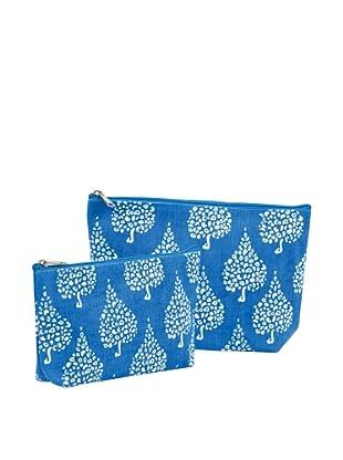 RockFlowerPaper Crete Blue Zip Bags (Set of 2)