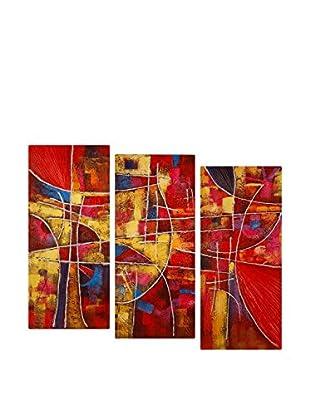 Arte dal Mondo  Wandbild 3er Set Edgar Ramirez Astratto