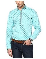 See Designs Men Buttoned Shirt (SDMDWSS14SH171_XS, LIGHT BLUE, XS)