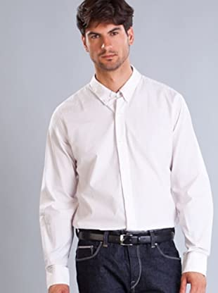 Timberland Camisa Rayas Vertical (Blanco / Salmón)