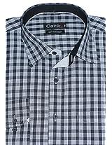 Cairon Black Check Smart Formal Shirt Sf-E6640_C