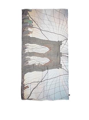 CHIC Women's Brooklyn Bridge Digital Woven Viscose Scarf, Multi, One Size