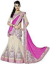 Bridetouch Women's Faux Georgette Lehenga Cholis (3306-Pink _Free Size)
