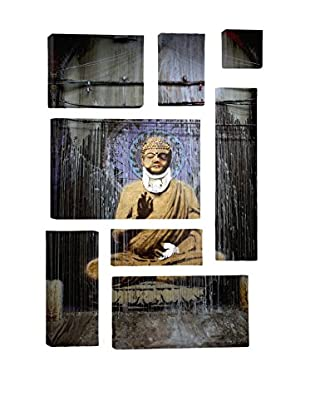 Banksy Injured Buddha 8-Piece Giclée On Canvas
