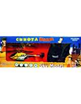 Chhota Beem Helicopter With Remote Control Gyro Charger Night Light Radio 2.5 Channel Alloy R/C