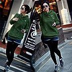 Green Woolen Long Sleeve Hoodie