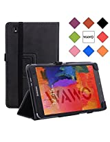 WAWO Smart Cover Bluetooth Keyboard Case for Samsung Galaxy Tab S 8.4 inch Tablet-Black