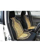 AutoSun Premium Quality Car Wooden Bead Seat Cover Set of 2 For Hyundai Santro Xing