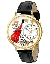 Whimsical Watches Unisex G0510004 Electric Guitar Black Leather Watch