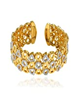Mahi daily wear Gold Plated Stylish Mango Kada with Crystal for Women BA1100787G