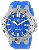 Swiss Legend Watches, Men's Challenger Blue Textured Dial Blue Silicone, Model 10126-03