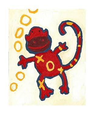 "Cici Art Factory X & O Monkey, 8""x 10"""