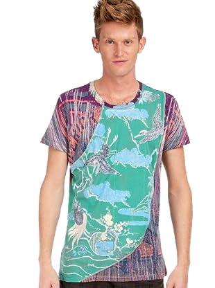 Custo Barcelona T-Shirt (Grün/Blau/Violett)
