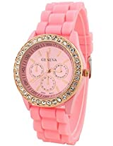 Geneva Analogue Pink Dial Women's Watch - g8253_D