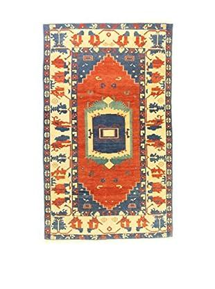 L'Eden del Tappeto Teppich Konya Indigo rot/blau/elfenbein 295t x t178 cm