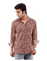 Albelishop Men's Button Front Shirt (FI002_L, Multi-Colour, L)