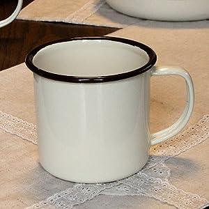 ホーロー マグカップ 北欧カントリー おしゃれでかわいい 人気のアンティーク調