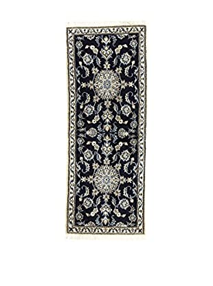 L'Eden del Tappeto Teppich Nain K dunkelblau/weiß 200t x t78 cm