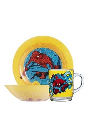 Luminarc Set 3 Piezas Desayuno Modelo Spiderman Comic