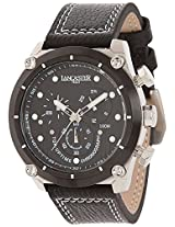 Lancaster Trendy Leather Strap Analogue Black Men's Wacth-OLA0380L/NR