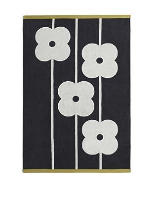 Orla Kiely Flower Abacus Bath Towel, Slate
