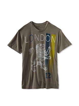 Kinetix Men's London Crew Tee Shirt (Charcoal)