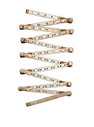 Vintage Wooden Foldable Rulers, White