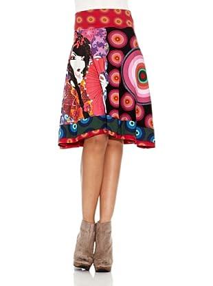 Desigual Falda Jimmily (Negro Estampado)