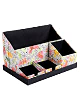 Traditional White Paper Office Set Floral Printed By Rajrang